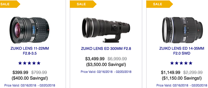 Get Olympus deals