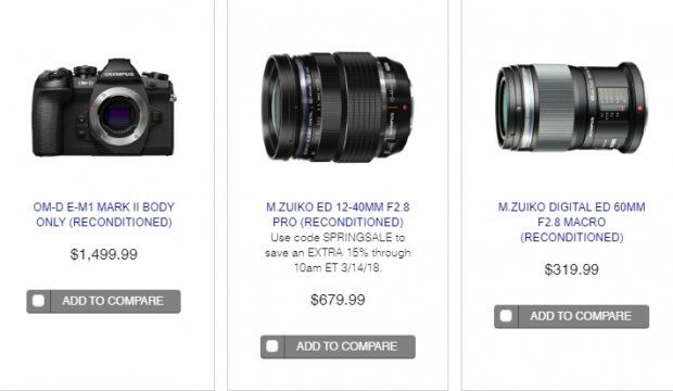 Hot Deals: Reconditioned Olympus Cameras & Lenses