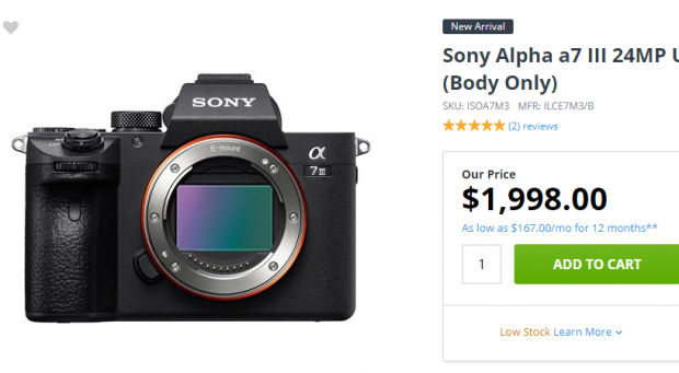 Sony A7 III First In Stock at Adorama