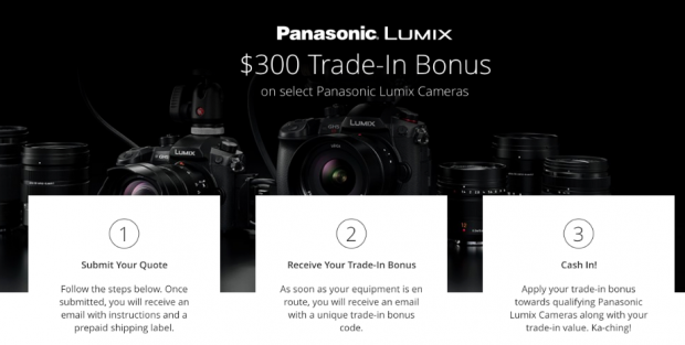 Hot Deals: $300 Trade-In Bonus On Selected Panasonic Cameras