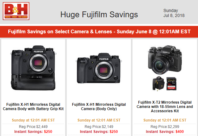Hot Deals: Huge Fujifilm Savings!