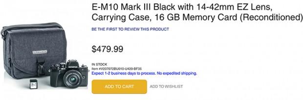 Olympus E-M10 Mark III deal