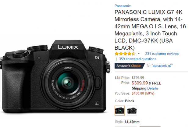 Panasonic Lumix DMC-G7 with 14-42mm deal