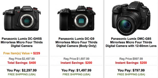 Hot Deals: Up to $400 Off on Panasonic GH5s, GH5, G85 and G9