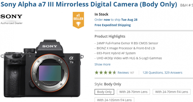 Sony a7 III Finally In Stock at B&H!