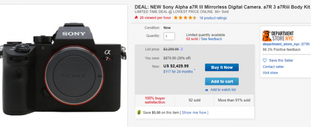 Sony A7R III Deals