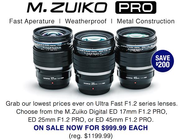 Olympus Pro F1.2 lens deals