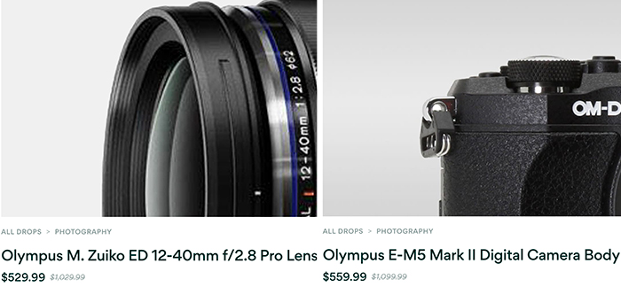 Hot Deals: Olympus 12-40mm F2.8 PRO lens for $529 and E-M5 Mark II for $559