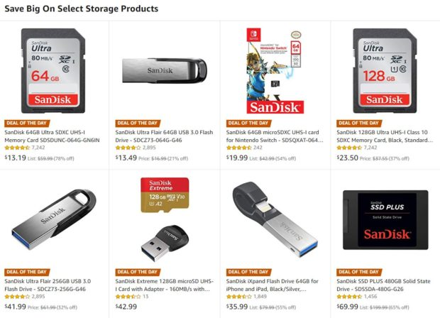 Hot Deals: SanDisk 128GB SD for $23.50, 64GB SD for $13.19 and More Storage Deals