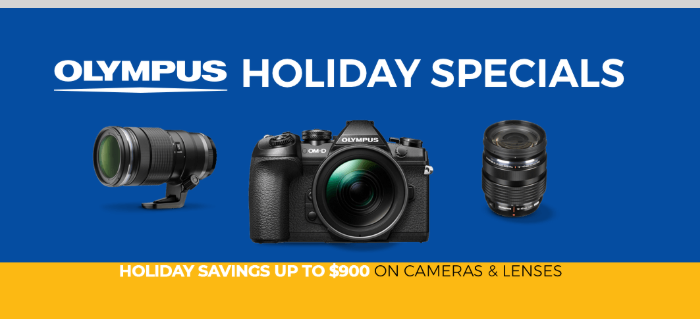Hot Deal: Olympus Holiday Specials