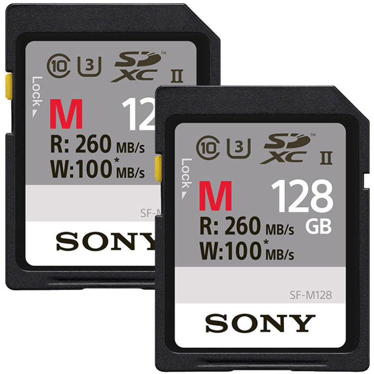 Hot Deal: 2-Pack of Sony 128GB M Series UHS-II SDXC for $120!