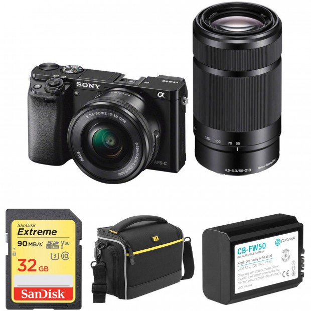 Hot Deal: Sony A6000 w/16-50mm and 55-210mm and Free Accessories Kit for $598!