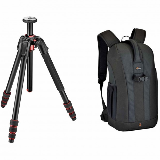 Hot Deal: Manfrotto 190go! Aluminum Tripod for $119.88, with Lowepro Bags $149/$249
