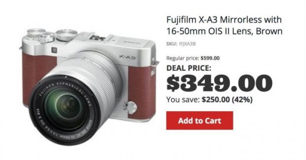 Hot Deal: Fujifilm X-A3 with XC16-50 for $349 at Adorama!
