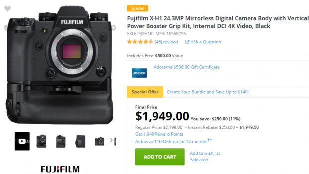 Super Hot Deal: $750 Off on Fujiflm X-H1!