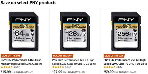Hot Deals: PNY Cards and Storage at Amazon