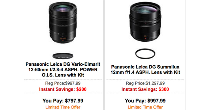 Hot Deals: $300 of on Panasonic 12mm f/1.4 and $200 Off on Panasonic 12-60mm F2.8-4.0 Lens