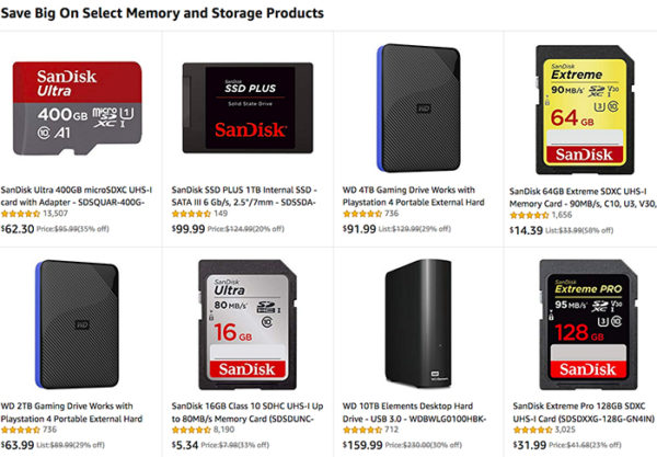 Hot Deals: Save Big On Select Memory and Storage Products at Amazon!