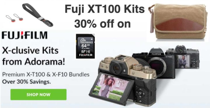 Hot Deals: 30% Off on Fujifilm X-T100 and XF10 Bundles at Adorama!
