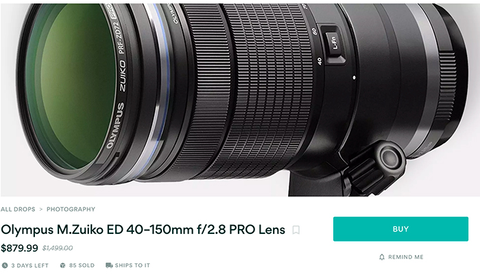 Hot Deal: Olympus 40–150mm F2.8 PRO Lens for $879.99 at Massdrop