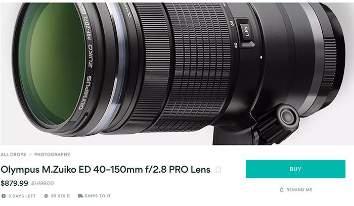 Olympus M 40-150mm F2.8 Pro lens deal