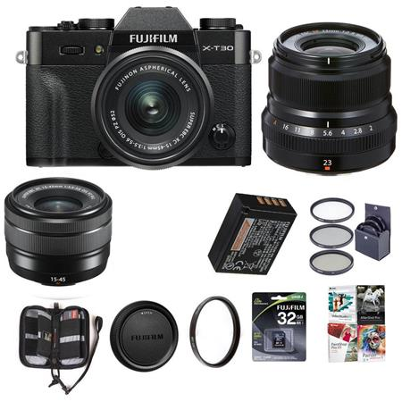 Hot Deal: Fujifilm X-T30 with XC 15-45mm F3.5-5.6 & XF 23mm F2R for $1,148 at Adorama