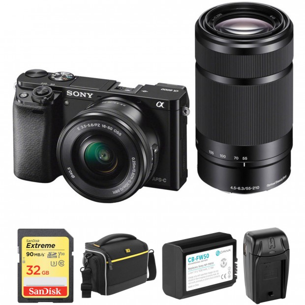 Hot Deal: Sony A6000 w/16-50mm and 55-210mm Lenses with Free Accessories Kit for $648!