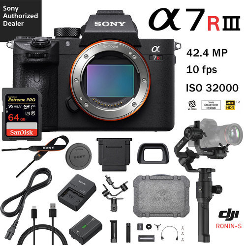 Supe Hot Deal: Sony a7R III w/ DJI Ronin-S Bundle for $2,879 at BuyDig !