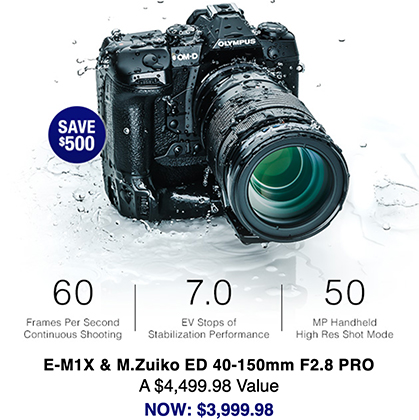 Hot Deal: Save $500 on Olympus E-M1X and 40-150mm PRO Bundle