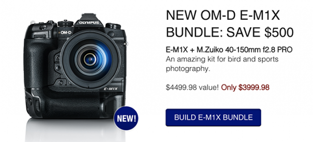 Hot Deal:  $500 Off on Olympus E-M1X w/ M.Zuiko 40-150mm f2.8 PRO Bundle
