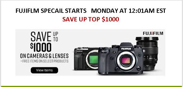 Hot Deals: Up to $1,000 Off on Fujifilm Cameras at B&H!