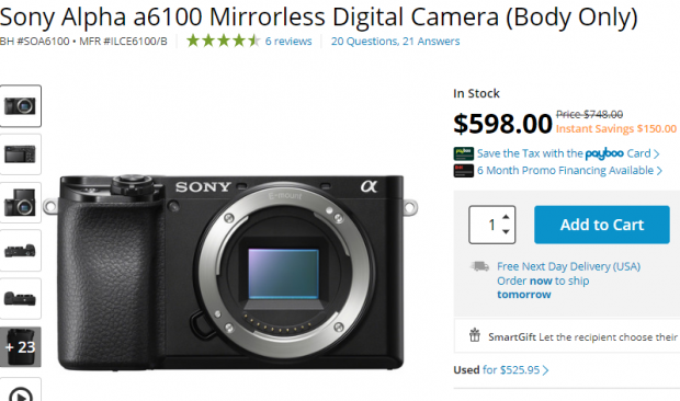 Hot Deal: $150 Off on Sony A6100!
