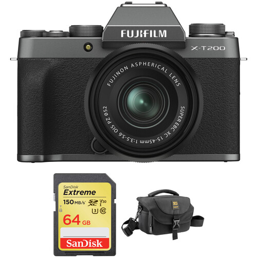 Hot Deal: Fujifilm X-T200 with 15-45mm Lens and Accessories Kit for $499.95
