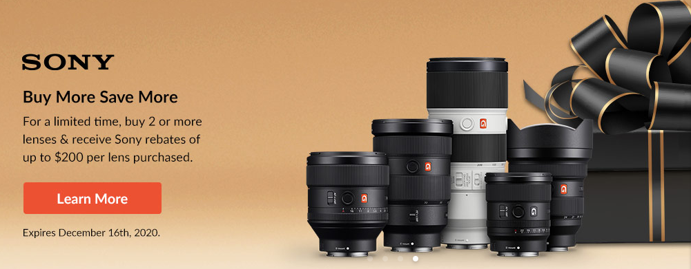 Hot Deals: Sony Lenses Deals at Adorama (Buy More Save More)