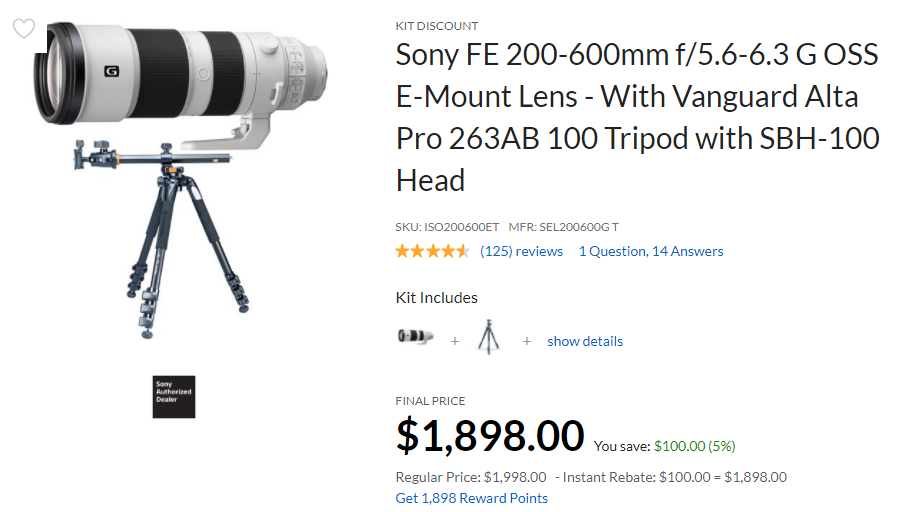 Sony FE Lenses Rebates