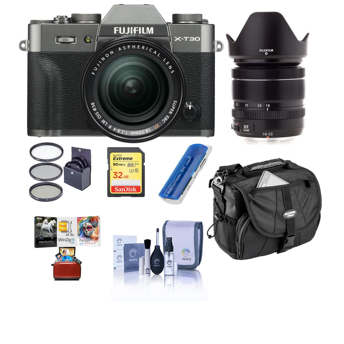 Hot Deal: Fujifilm X-T30 Charcoal Silver with XF 18-55mm f/2.8-4 Lens W/ACC for $1,199 at Adorama