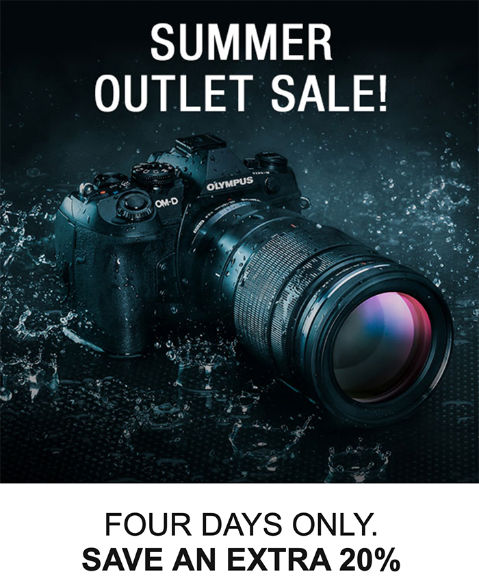 Hot Summer Outlet Sales: an Extra 20% at GetOlympus