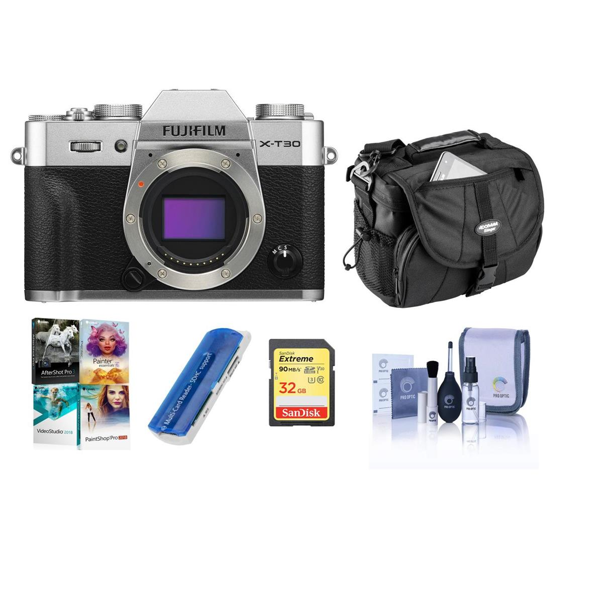 Hot Deal: Fujifilm X-T30 Camera Bundles Body + Acc Kit for $799!